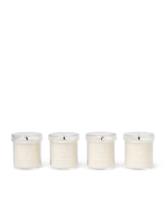 Ferm Living - Scented Advent Candles Set Of 4 - White (1104263199)