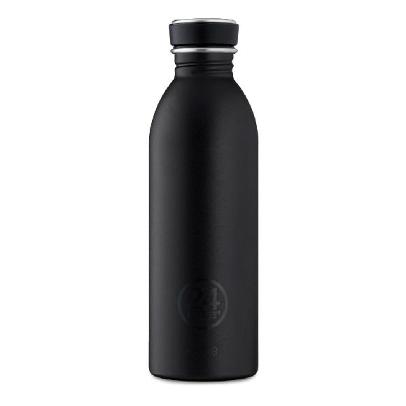 24 Bottles - Urban Bottle 0,5 L - Stone Finish - Tuxedo Black (24B716)