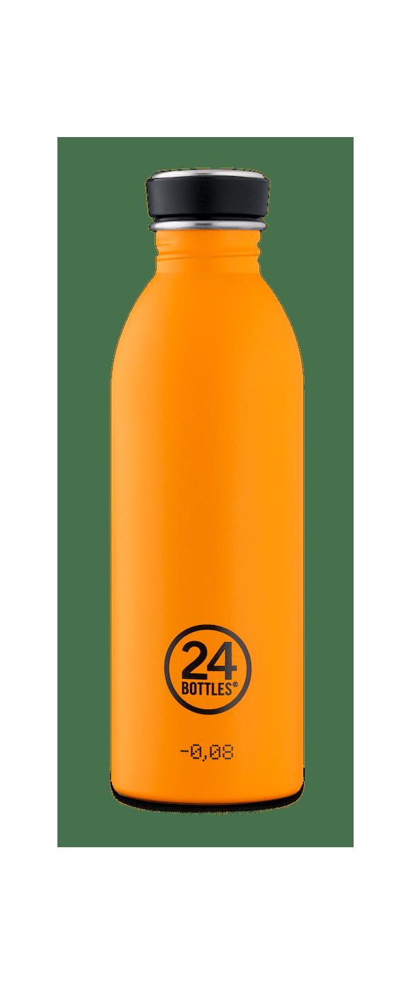 24 Bottles - Urban Bottle 0,5 L - Stone Finish - Total Orange