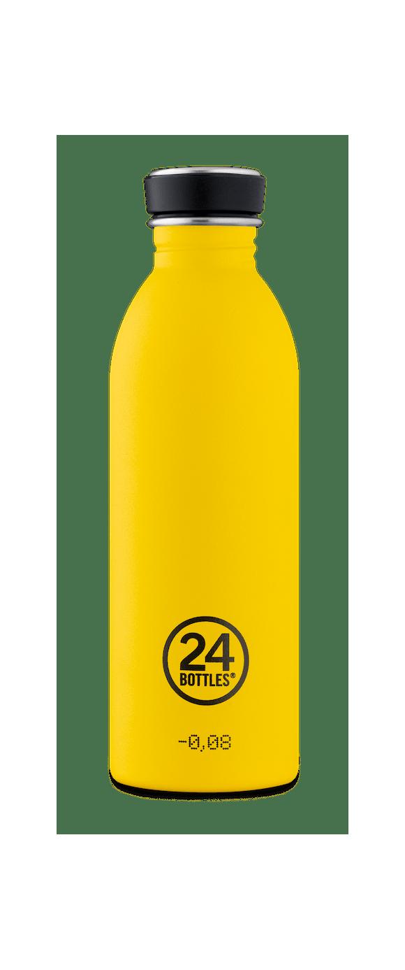 24 Bottles - Urban Bottle 0,5 L - Stone Finish - Taxi Yellow (24B714)