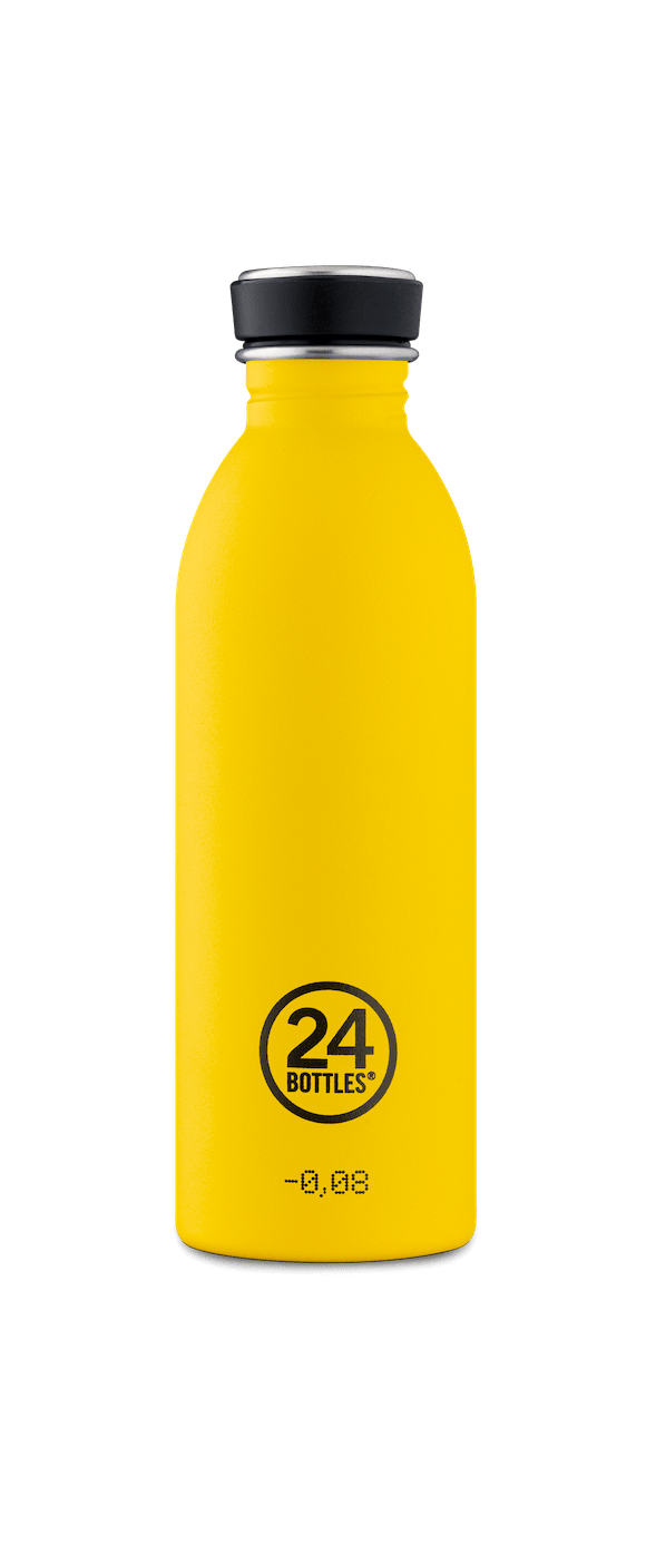 24 Bottles - Urban Bottle 0,5 L - Stone Finish - Taxi Yellow