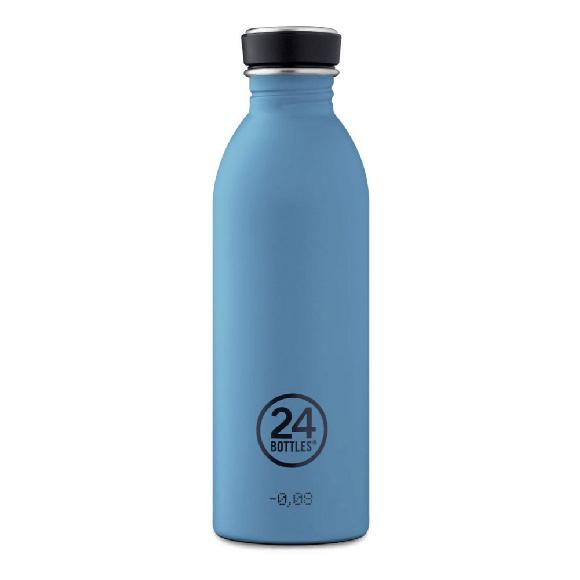 24 Bottles - Urban Bottle 0,5 L - Stone Finish - Powder Blue (24B700)