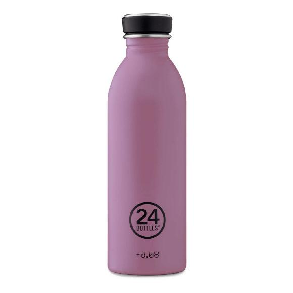 24 Bottles - Urban Bottle 0,5 L - Stone Finish - Mauve
