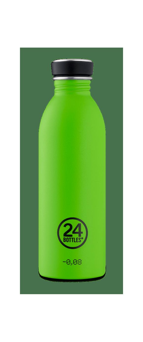 24 Bottles - Urban Bottle 0,5 L - Stone Finish - Lime Green (24B712)