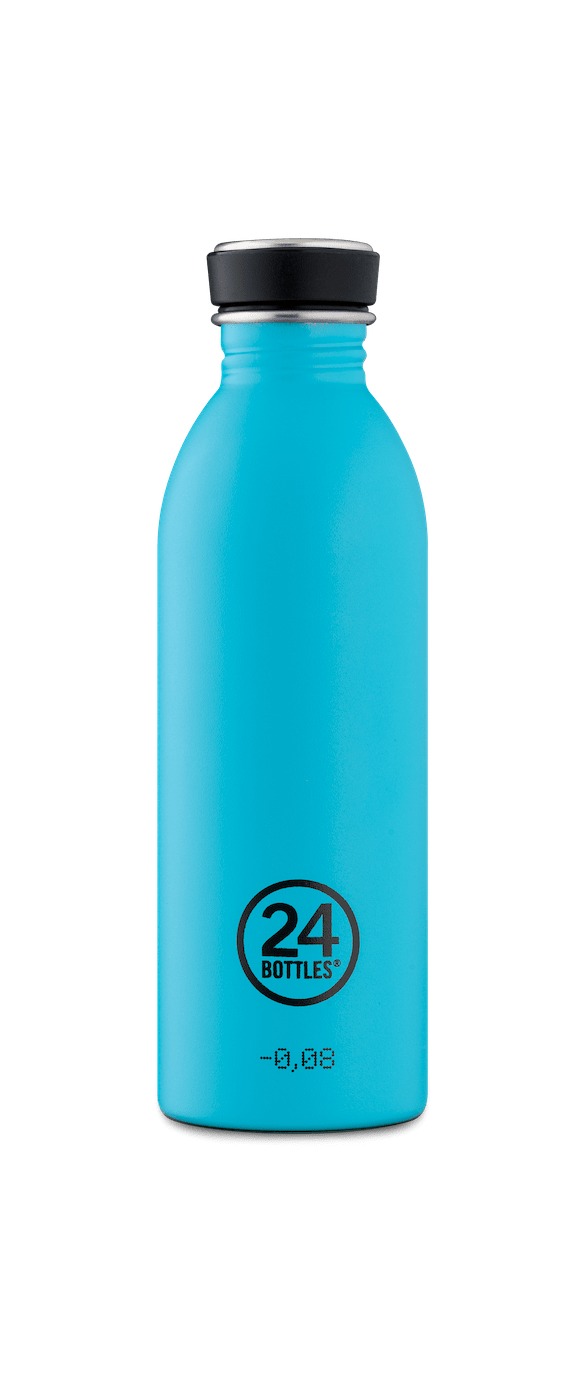 24 Bottles - Urban Bottle 0,5 L - Stone Finish - Lagoon Blue