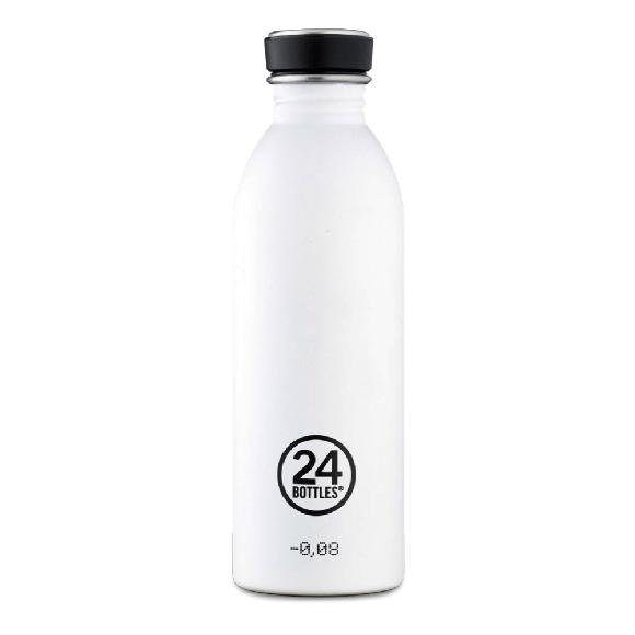 24 Bottles - Urban Bottle 0,5 L - Stone Finish - Ice White (24B710)
