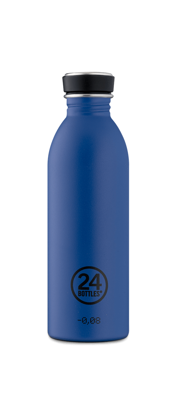 24 Bottles - Urban Bottle 0,5 L - Stone Finish - Gold Blue (24B708)