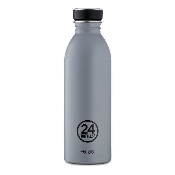 24 Bottles - Urban Bottle 0,5 L - Stone Finish - Formal Grey