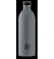 24 Bottles - Urban Bottle 1 L - Stone Finish - Formal Grey (24B754)