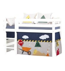 Hoppekids - Play Curtain Half-High Bed 70x160 cm -Construction