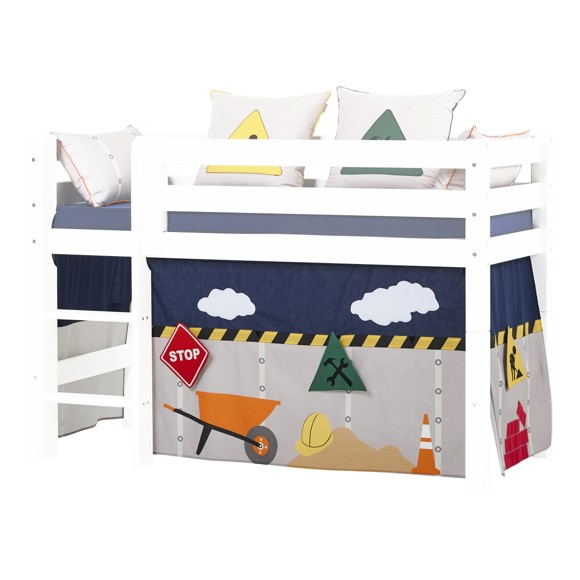 Hoppekids - Play Curtain Half-High Bed 70x160 cm -Construction
