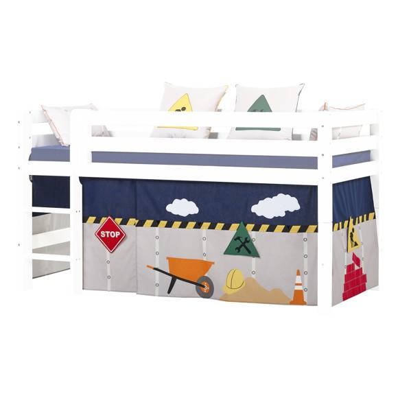 Hoppekids - Play Curtain Half-High Bed 90x200 cm - Construction