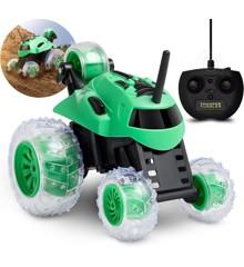 Sharper Image - Fjernstyret Bil - Mini Monster Spinning Car - Grøn