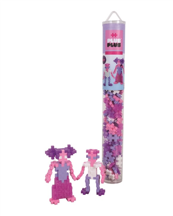 Plus Plus - Tube with 100 pc - Glitter Mix (4244)