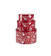 Funktion - Cake Tin Set 3 pcs - Red/White (13395)