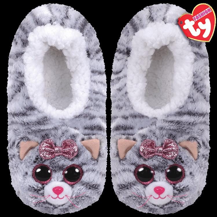 Ty Plush - Slippers - Kiki the Cat (Size: 28-31) (TY95300)