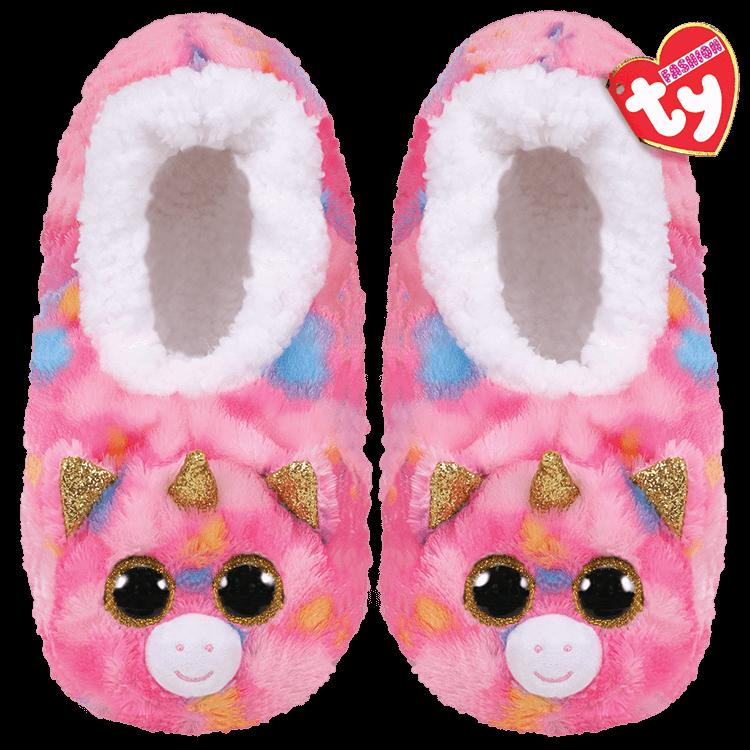 Ty Plush - Slippers - Fantasia the Unicorn (Size: 28-31)
