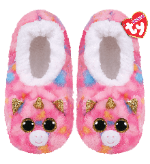 Ty Plush - Slippers - Fantasia the Unicorn (Size: 28-31)