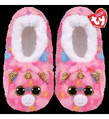 Ty Plush - Slippers - Fantasia the Unicorn (Size: 32-34)