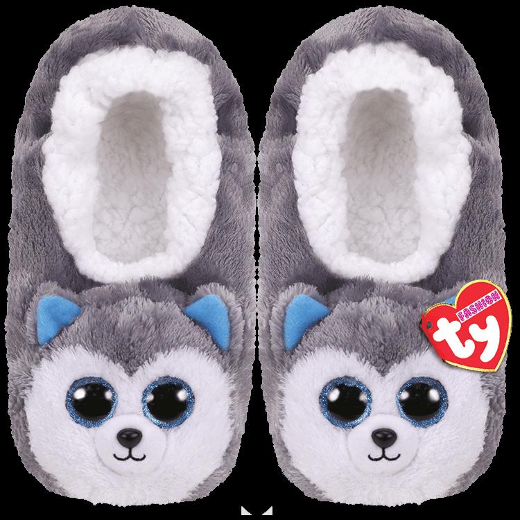 Ty Plush - Slippers - Slush the Husky (Size: 28-31) (TY95302)