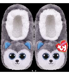 Ty Plush - Slippers - Slush the Husky (Size: 32-34) (TY95332)