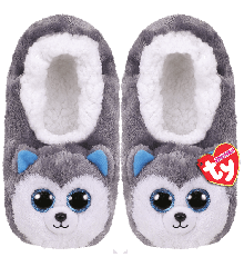 Ty Plush - Slippers - Slush the Husky (Size: 36-38) (TY95362)