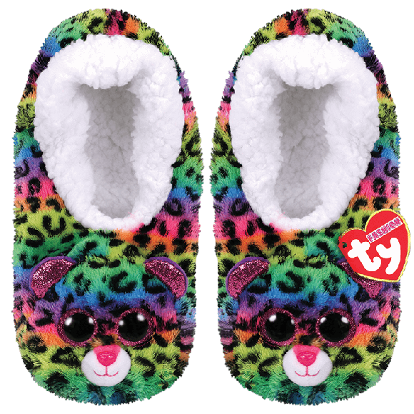 Ty Plush - Slippers - Dotty the Leopard (Size: 28-31) (TY95304)