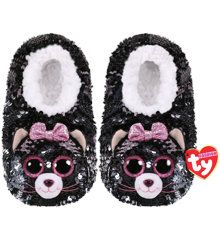 Ty Plush - Sequin Slippers - Kiki the Cat (Size: 36-38) (TY95560)