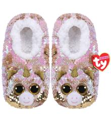 Ty Plush - Sequin Slippers - Fantasia the Unicorn (Size: 36-38) (TY95561)