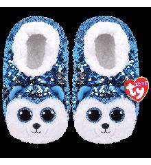 Ty Plush - Sequin Slippers - Slush the Husky (Size: 36-38) (TY95562)
