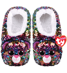 Ty Plush - Sequin Slippers - Dotty the Leopard (Size: 36-38) (TY95564)