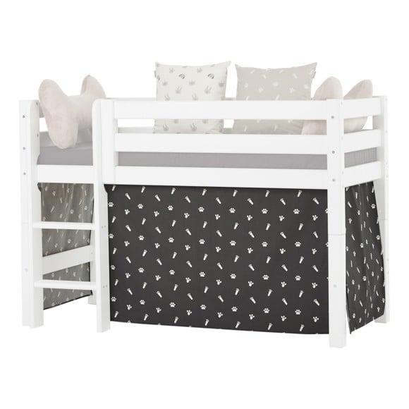 Hoppekids - Play Curtain Half-High Bed 70x160 cm - Pets Granite Grey