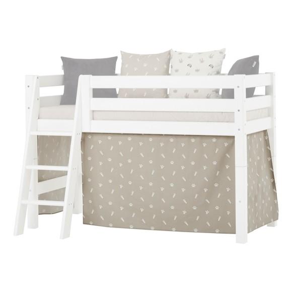 Hoppekids - Play Curtain Half-High Bed 70x160 cm - Pets Silver Cloud