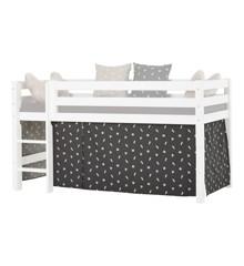 Hoppekids - Play Curtain Half-High Bed 90x200 cm - Pets Granite Grey