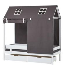 Hoppekids - Tekstil til Husseng 70x160 cm - Pets Granite Grey