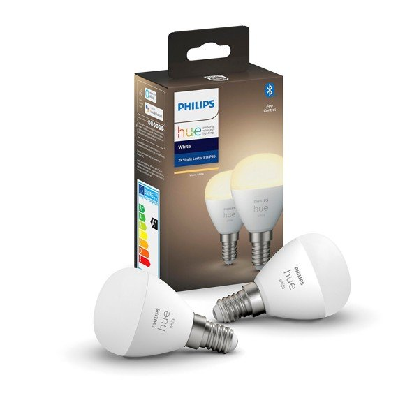 Philips Hue - Luster P45 2Pack E14 - Warm White