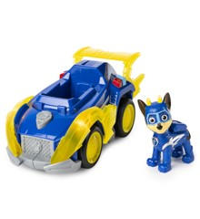 Paw Patrol - Mighty Pups Super PAWs Deluxe Køretøj - Chase
