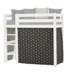 Hoppekids - Play Curtain Mid-High Bed 70x160 cm - Pets Granite Grey