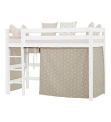 Hoppekids - Forhæng til Mellemhøj seng 90×200 cm - Pets Silver Cloud