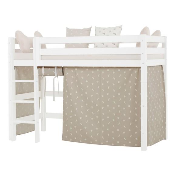 Hoppekids - Play Curtain Mid-High Bed 90x200 cm - Pets Silver Cloud