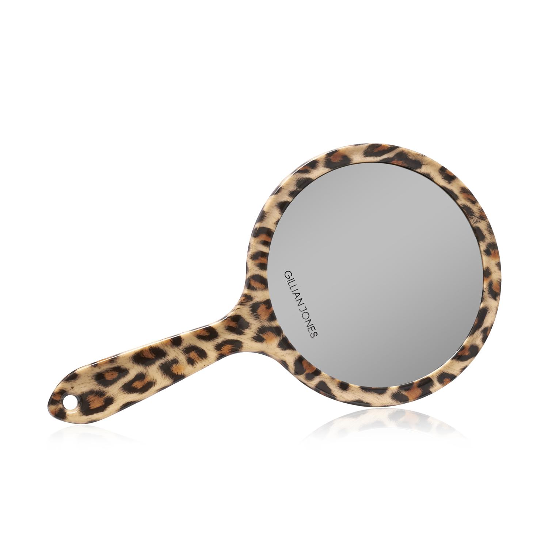 Gillian Jones - Two Sided Hand Mirror in Leopard Print