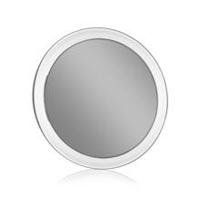 Gillian Jones - Rundt Spejl i Akryl m. Sugekop og 15x Forstørrelse