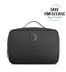 Gillian Jones - Traincase in Black Quilted Nylon