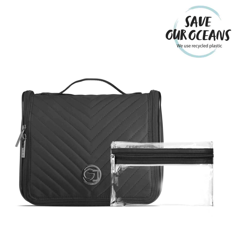 Gillian Jones - Organizer Cosmetic Bag w. Hang-up Function - Black