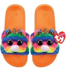 Ty Plush - Slides - Gemma the Rainbow Unicorn (Size: 28-31) (TY95410)