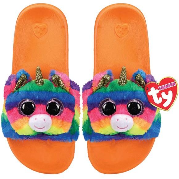 Ty Plush - Slides - Gemma the Rainbow Unicorn (Size: 28-31) (TY95410)