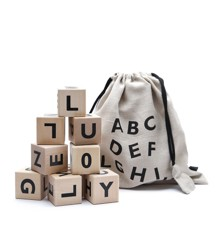Ooh Noo - Wooden alphabet blocks, black (40AB1501)