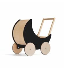 Ooh Noo - Wooden dolls pram, Black (40TP1801)
