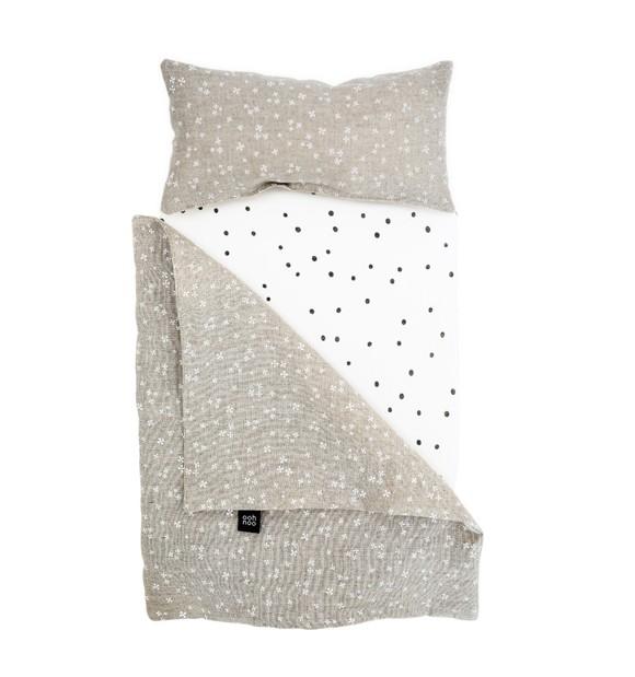 Ooh Noo - Dolly Cot Bedding, Starry Night Linnen (40DCB1401)