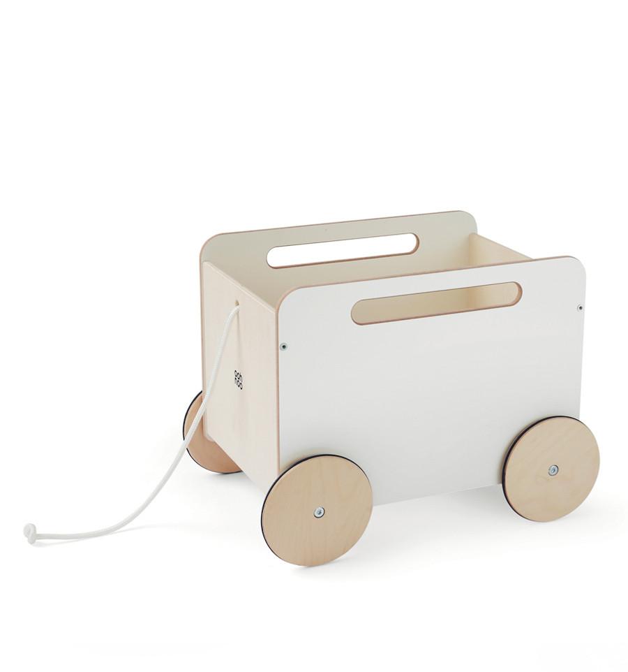 Billede af Ooh Noo - Trækvogn til legetøj, Hvid